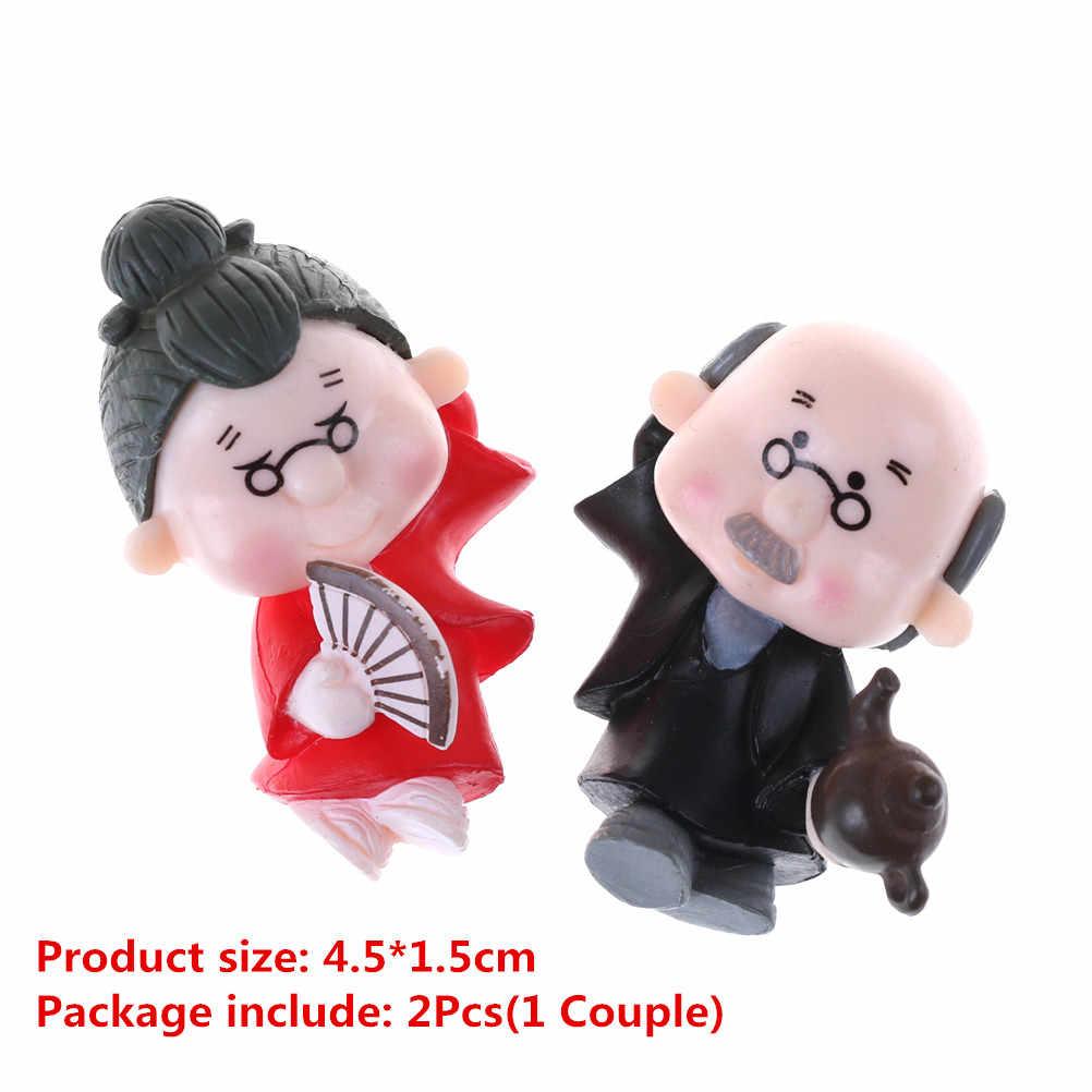 1/2 pcs Romantico Mini Della Ragazza del Ragazzo Amante Bacio Bambole Figure Toy Micro Fairy Garden Gnome In Miniatura/Terrario Decorazione FAI DA TE di accesso