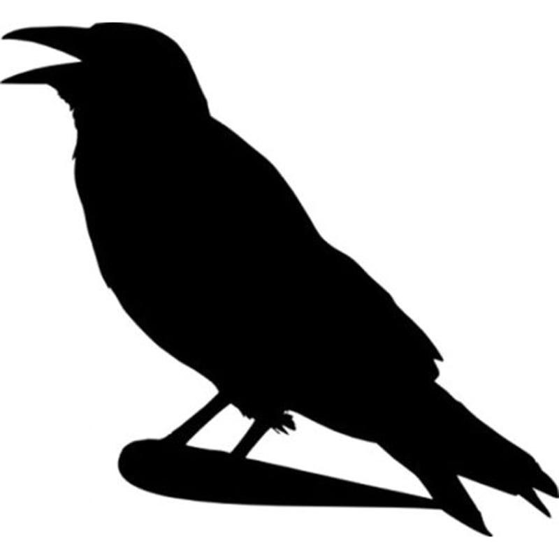 15.1X14CM Crow Bird On Tree Branch Fashion Vinyl Decals Car Sticker Car-styling Black Silver S6-2513