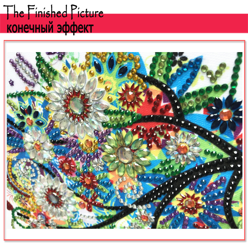 RUBOS DIY 5D Diamond Embroidery Colorful Tree Butterfly Bead Diamond Painting Cross Stitch Pearl Crystal Sale Hobby Gift Decor (10)