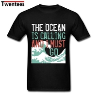 Men S Casual Love Surfing Shirt Short Sleeve Fashion Designer Custom The Call Of The Ocean