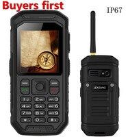 Original X6 IP68 Waterproof Rugged Phone With Walkie Talkie Function GSM Mobile Phone Dual SIM Card
