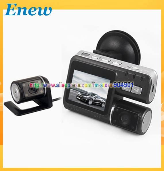 FREE SHIPPING by HK POST F70 H.264 Dual Lens HD 720P Dashboard Car vehicle Camera Video Recorder DVR CAM G-sensor/F70 for 30fps