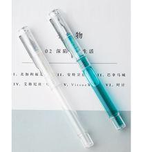 Прозрачный перьевая ручка с украшением в виде кристаллов впечатление