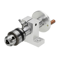 Live Lathe Center Head with Chuck DIY Accessories for Mini Lathe Machine Revolving Centre Woodworking Tool