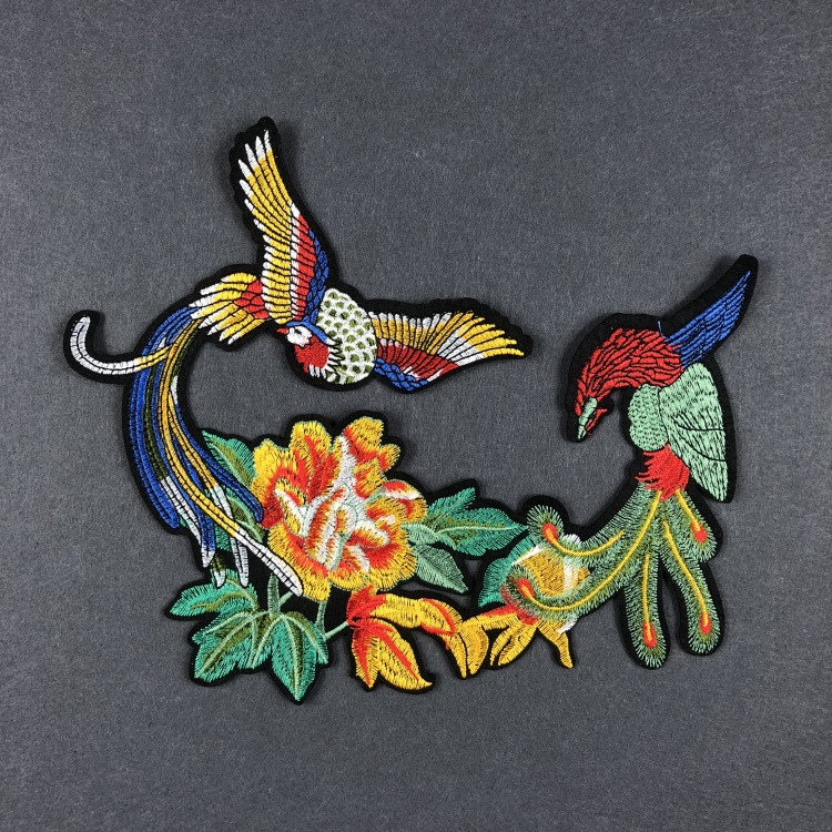 Detail Feedback Questions about Large Phoenix Bird Embroidered Patch Cloth  Applique Women Dress Qipao Patches Cloth Sticker Chinese Embroidery DIY  Patch ... abe90b382593