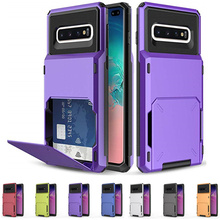 For Samsung Galaxy S10 5G S10E S9 S8 S10 Plus Case Flip Card Slots Business Case For Samsung A7 2018 A750 Note 9 s9 + s8+ Cover