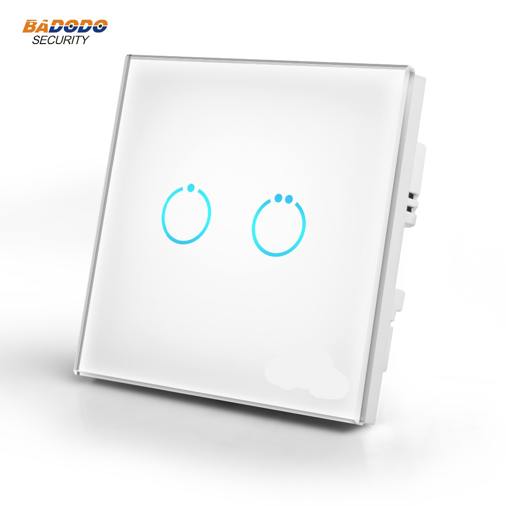 Z Wave Plus Touch Panel power Switch MCO HOME MH S312 EU868 42MHz 2 gang ON