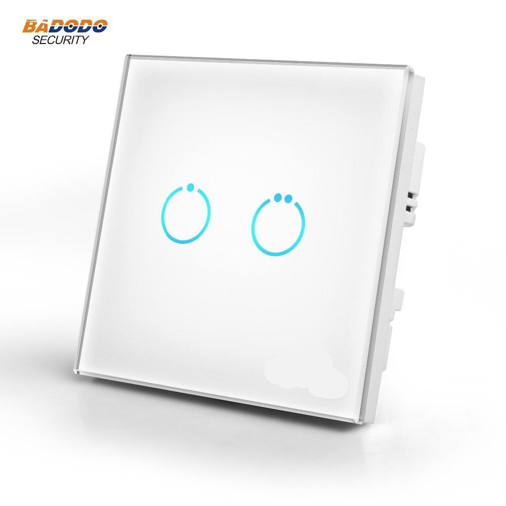 Z Wave Plus Touch Panel Interruttore di alimentazione MCO CASA MH S312 EU868.42MHz 2 gang ON/OFF interruttore per la lampada motore di controllo della luce di controllo TV-in Automazione degli edifici da Sicurezza e protezione su AliExpress - 11.11_Doppio 11Giorno dei single 1