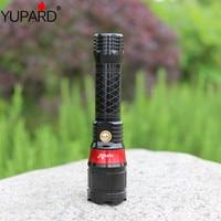 YUPARD laser wielofunkcyjny latarka z czerwony kolor światło laserowe wskaźnik Q5 LED zoomable światło lampy błyskowej dla Tactical polowanie w Latarki LED od Lampy i oświetlenie na