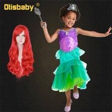 Boutique The Little Mermaid Christmas Ariel Dress Birthday Girl Fancy Kids Floral Childrens Evening Trumpet