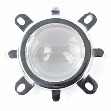 1 Set 20W 30W 50W 70W 100W 120W LED 44mm Lens + Reflector Collimator + Fixed Bracket High Quality 44mm led lens 60 80degree led glass lens reflector collimator fixed bracket hoder set for high power for 30w 50w 70w 100w