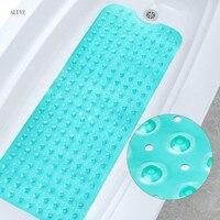 PVC Bathtub Bath Mat For Toilet Transparent mats Shower Carpet Suction Anti Slip Sucker Bathroom Carpet Set Bath Decor 100*40