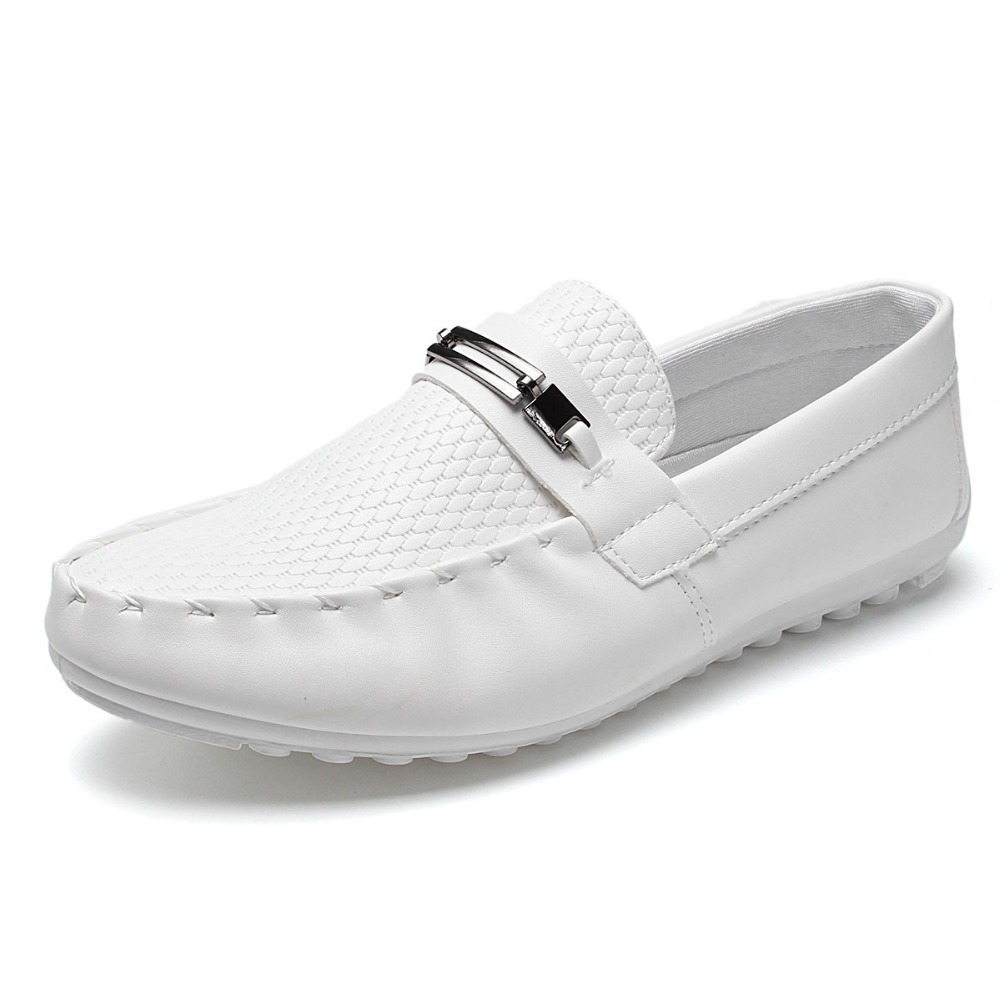black white casual shoes pea pea soft sole loafer