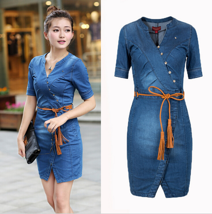 Aliexpress.com : Buy 2016 Denim Dress Vintage Summer Style ...