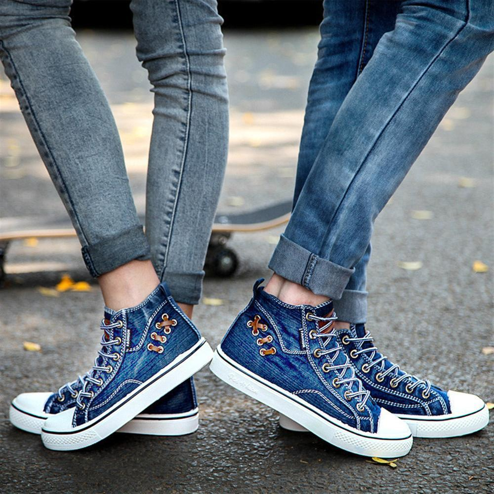Chaussure Se 2018 Chaussures Top Mujer lan Noir Plat Sneakers Smerilli New Se Casual Hommes Zapatos Homme Toile Hui Bottes Se hei High tBhQdsrCx