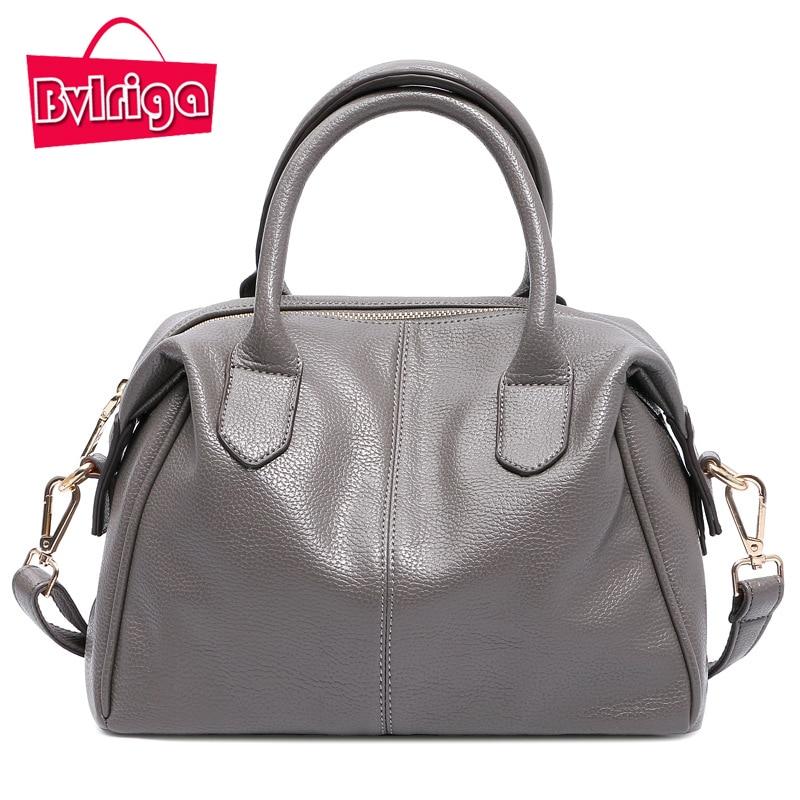 ФОТО BVLRIGA Handbags Women Bags Designer Handbags Women Luxury Brand Women Messenger Bag Leather Shoulder Bag Boston