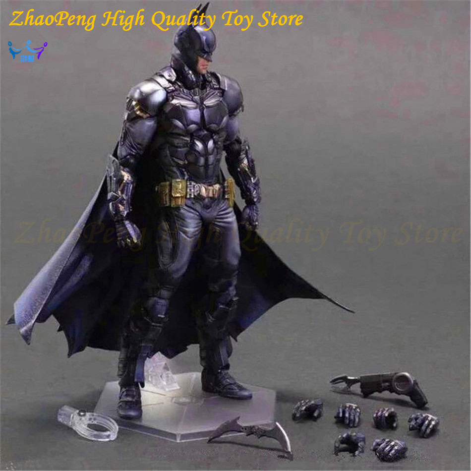 DC Comics Play Arts Justice League America Anime Batman Bruce Wayne Movable Action Figure Toys 27cm Kids Collection Model FB123 25cm the flash action figure play arts dc justice league pvc kids gift toy doll anime movie model movable cosplay collection