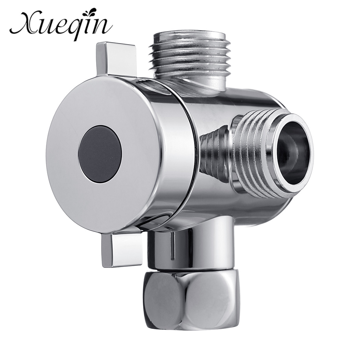 Us 4 32 42 Off Xueqin Three Head Function Shower Head Diverter Valve Switch Adapter Control Valve 3 Way Tee Connector Toilet Bidet In Faucet
