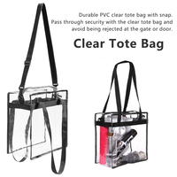 2019 New Large Capacity Ladies Tote Bag PVC Women Handbag Shoulder Bags Fashion Transparent Beach Shopper Bag Bolsas