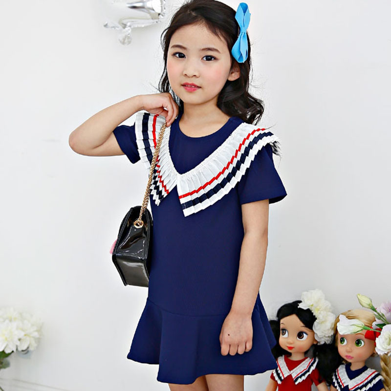 summer girls dress baby Princess Party vestido menina Kids Formal clothes children one piece for 3T-8T red blue dresses monsoon summer 2017 new girl dress baby princess dresses flower girls dresses for party and wedding kids children clothing 4 6 8 10 year