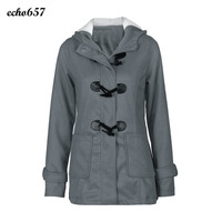 Venda quente Casaco de Lã Das Mulheres Echo657 Novas Mulheres Moda Casual Blusão Outwear Lã Quente Longo Casaco Fino Top 16 De Dezembro