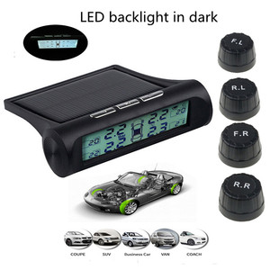 Image 1 - תאורה אחורית בחושך צמיג לחץ מעורר צג TPMS רכב צמיג לחץ ניטור מערכת תצוגה דיגיטלית אנרגיה סולארית כוח USB