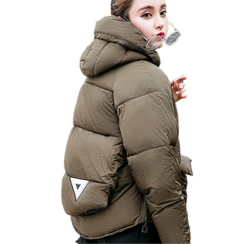 Hot Fashion Cotton Padded Winter Jacket Women Hooded Solid Color Thick Loose Large Parka Winter Coat Female Outerwear TT3310 lstu winter jacket women 2017 fashion cotton padded hooded jacket female wadded jacket outerwear winter coat women