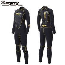 SLINX 5MM Women One-piece Neoprene Wetsuit Fleece Lining Winter Swimwear Frogman Diving Suit for Spearfishing Surfing Triathlon