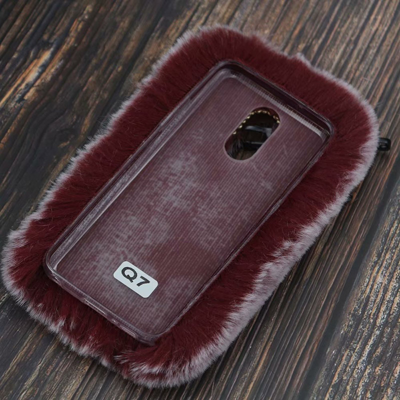 Image 3 - Fluffy Case for LG Q7 Q6 G7 G6 G5 G4 V30 V20 Stylo 4 3 3D Cute Plush Fur TPU Diamond Jewelled Soft Phnoe Back Case Cover-in Half-wrapped Cases from Cellphones & Telecommunications