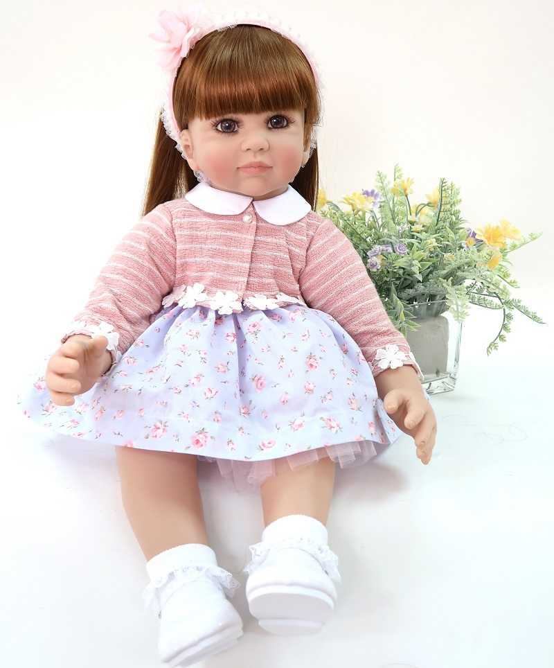 Hot Sale Reborn Baby Dolls Realistic Girl Princess 24 inch Baby Dolls Alive Reborn Toddler doll Bebes reborn realista Toy giftHot Sale Reborn Baby Dolls Realistic Girl Princess 24 inch Baby Dolls Alive Reborn Toddler doll Bebes reborn realista Toy gift