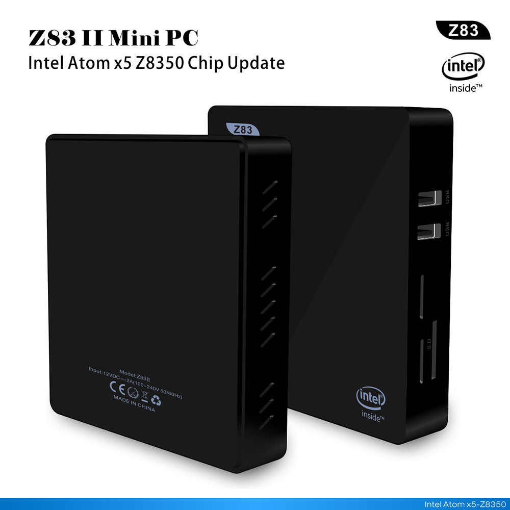 все цены на Z83II TV Box 2G/32G Windows 10 Intel Atom X5-Z8350 1000M LAN Mini PC XBMC 2.4G+5.8G Wifi Miracast BT 4.0 HDMI To VGA Cable онлайн