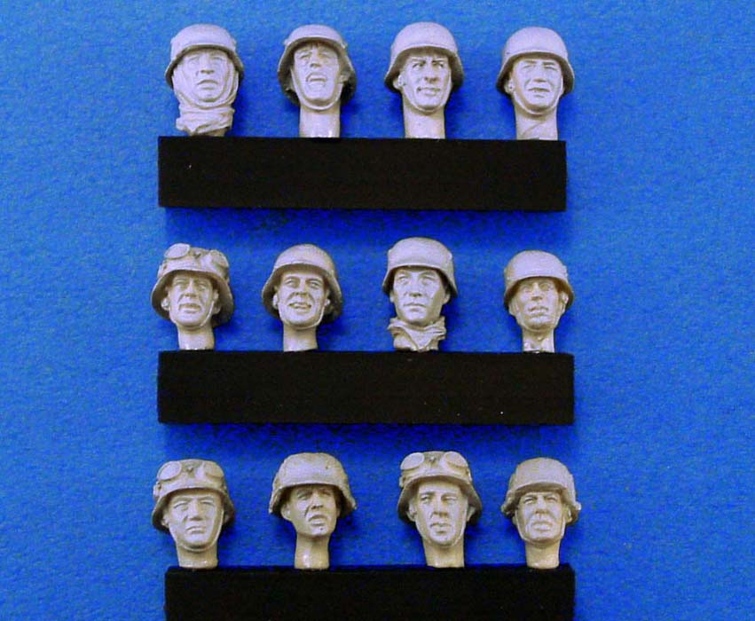 pre order-Resin toys L0112 German Heads set #2 (WWII) Free shipping