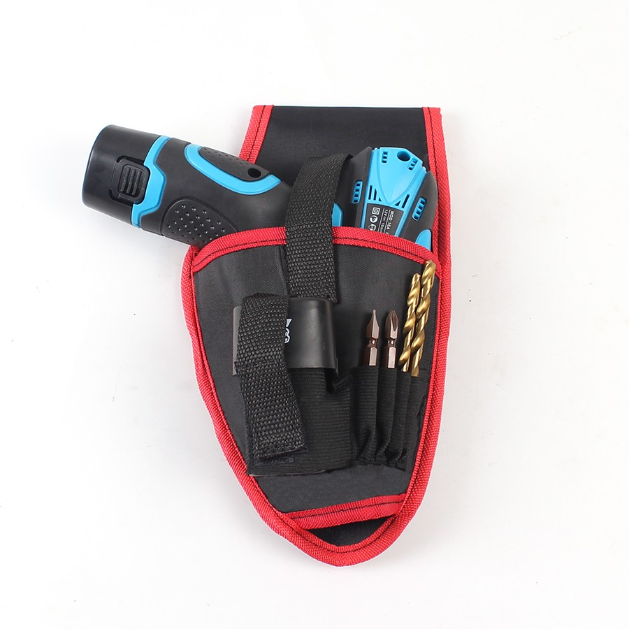 HILDA Portable Cordless Drill Holder Holst Tool Pouch For 12V Drill Screwdriver Waist Tool Bag New td new design electricians waist pocket tool belt pouch bag screwdriver carry case holder outdoor working free shipping