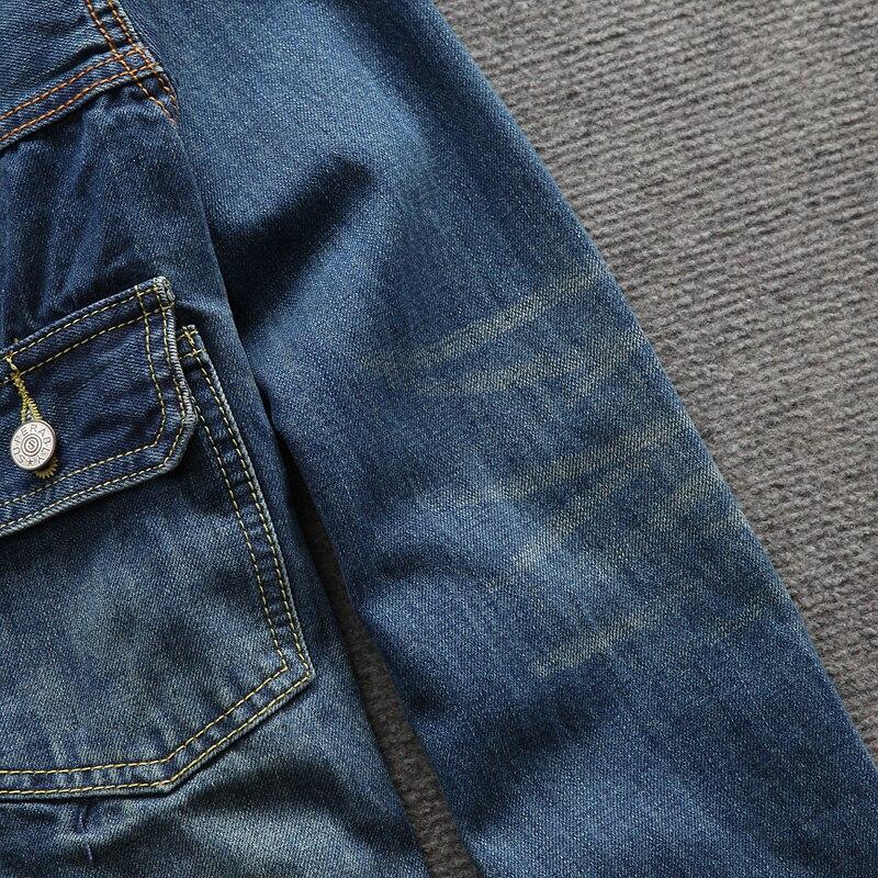 Classique Salopette poches De Couleur Vestes Homme Jean Multi 3xl Manteau Vintage Bleu Mode Marque Jeans Hommes En Taille S Z5nxqd
