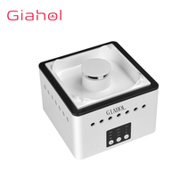 GIAHOL 8000mAH Battery Operated Ceramic Negative ion Ashtray Air Purifier With 4 Cigars Holder Ash Slot Remove Second Hand Smoke цена 2017