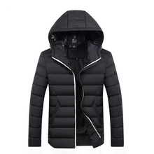 Mens Winter Jackets Casual Warm Thick Coats Hooded Solid Thermal Parkas Waterproof Jacket Brand Men Outerwear winter warm military jackets coats men 2019 casual fashion thick thermal fleece hooded jacket coat outerwear