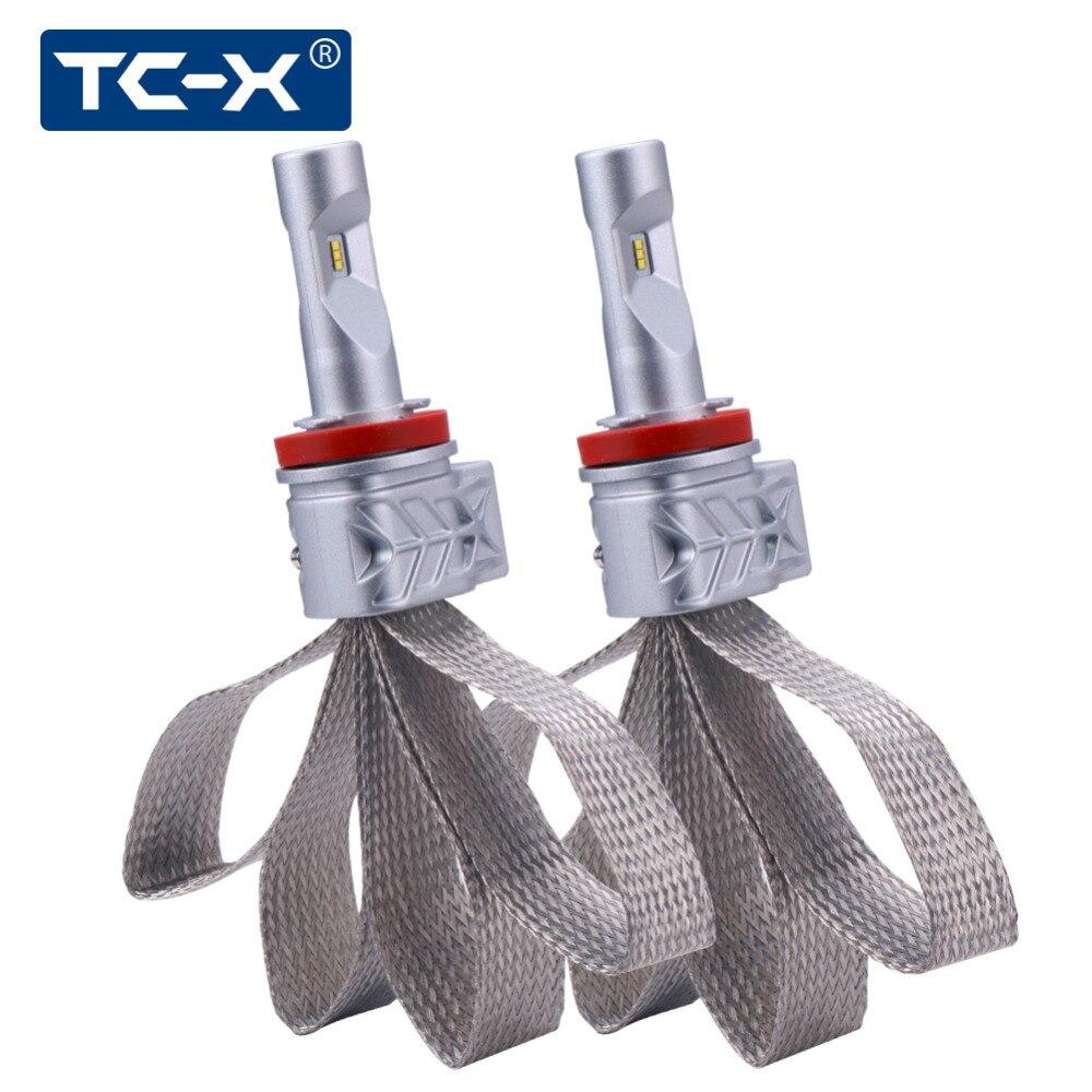 TC-X Tumanki Pour Audi A4 B8 2011 H8 H9 H11 diode lampes LED Pour honda cr-v 2013 auto brouillard lumières vases crv luexon zes frete gratis