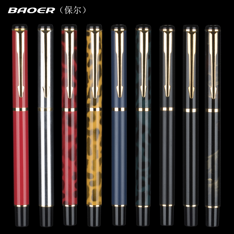 New Style Baoer 801 Kawaii Colorful Ink Fountain Pen wish 0.5 mm EF Nib Fashion Inking Pens with Gift Case