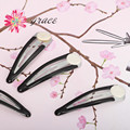 Panic buying 20pcs/lot diy hair pins and clips fashion black hair decoration for kindergarten kids 47mm Craft Bow-Nickel Plated