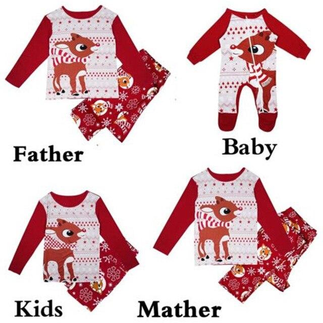 New Year s Costumes For Family Matching Christmas Pajamas Set Hot Sale Baby  Kids Mom Dad Sleepwear Nightwear Cartoon Pajamas Set a83e166bf