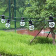 8/13/21M Led Globe String Fairy Lights Clear/Milky Christmas G50 Outdoor Waterproof Wedding Garden Party Patio Street Decoration