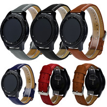 Hot sale Fabulous Replacement Leather Watch Bracelet Strap Band For Samsung Gear S3 Frontier wholesale No29
