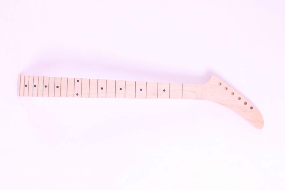 one     electric guitar neck maple made and maple  fingerboard Bolt on 22 fret one electric bass guitar neck high quality maple made with ebony fingerboard 21 fret