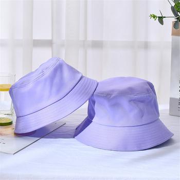 2019 nowy dla chłopców i dziewcząt kapelusze przeciwsłoneczne kobiet ochrony przeciwsłonecznej wiadro kapelusze mężczyźni C Sunbonnet kapelusze jednolity kolor lato plaża czapki hurtownie tanie i dobre opinie COTTON Dla dorosłych Unisex Na co dzień Stałe DOME H086 Speelk 54-58 cm 88 g Unisex Boy girl Sun Hats Women Sunscreen Bucket Hats Men Letters