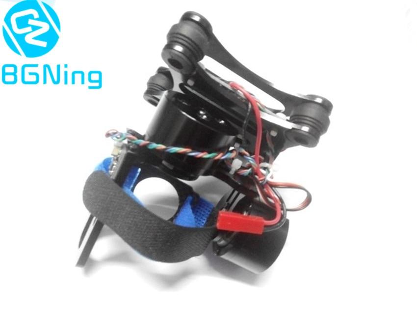 Support de caméra à cardan en aluminium PTZ avec contrôleur de moteur sans balai pour Gopro 2/3/3 + FPV DJI Phantom Drone pièces de rechange couleur noir