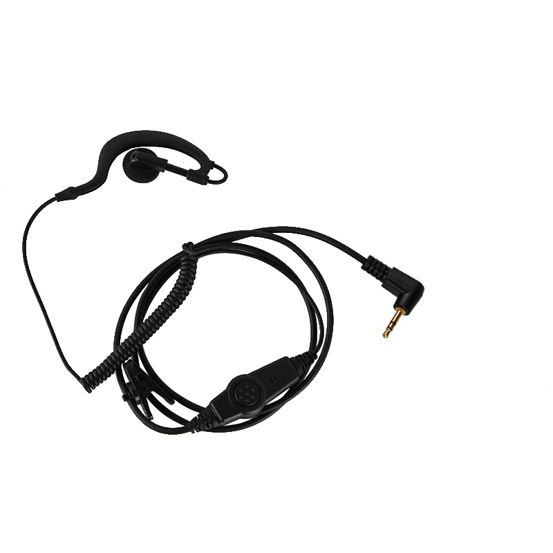 For Motorola Talkabout Radio 2.5mm 1 Pin Clip Ear Hook Earpiece Headset Mic PTT Walkie Talkie TLKR T80 T60 T5410 T5420 T5720 New