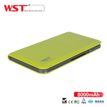 8000mAh Ultra Thin External Portable Battery With Built in Cable For IOS Android Caricatore Portatile