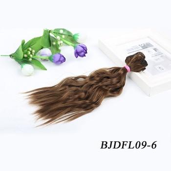 Allaosify BJD cabelo encaracolado 25 cm * 100 cm peruca BJD para bonecas peruca sintética cabelo frete grátis para bonecas 1