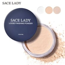 White Tone face loose power Oil control Professional Brighten Face Setting Powder polvos maquillaje SACE LADY Matte Loose