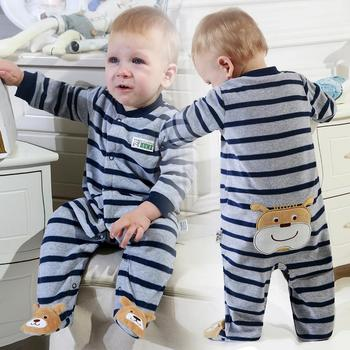 2019 new Winter Fleece baby clothes baby girls boys  Long sleeves bodysuit baby boy jumpsuit 1